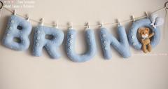 Varal de Letras de Feltro e Ursinho (Dani_Fressato) Tags: handmade artesanato felt beb patch letras maternidade varal ursinho trabalhomanual danifressato