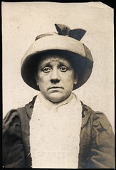 Isabella McQue alias Hubbart, arrested for stealing a sealskin coat (Tyne & Wear Archives & Museums) Tags: portrait woman hat sadness interesting edinburgh coat criminal crime thief mugshot unusual ww1 theft policestation arrested stealing prisoner sadface larceny northshields imprisoned