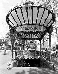 Metropolitian Metro in Paris (cinder85212) Tags: blackandwhite paris france subway metro metropolitian