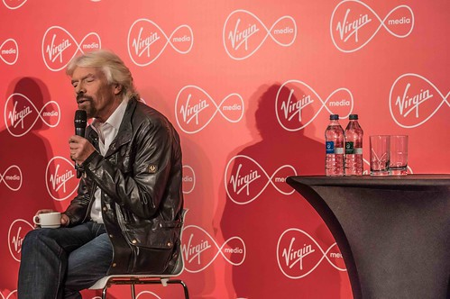 RICHARD BRANSON INTRODUCES VIRGIN MEDIA TO THE PRESS [1st. October 2015] REF-10858514