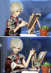 7 (Jane Kolyadintseva) Tags: boy art painting doll artist drawing spirit illusion bjd azone