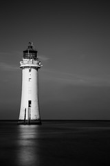 Perch (A_Cro) Tags: longexposure sea blackandwhite bw lighthouse seascape water monochrome liverpool mono blackwhite northwest smooth wirral newbrighton newbrightonlighthouse longexposurephotography perchrock perchrocklighthouse canon6d flickrbw bwflickr haida10stopfilter