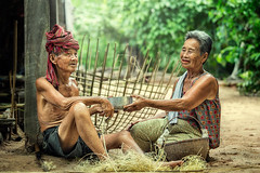 IMG_4265 (santifoto9) Tags: old family people woman pet man male chicken senior smiling female rural asian thailand happy person community couple sitting grandmother outdoor folk farm crafts traditional father grandfather working mother lifestyle happiness cock bamboo relationship mature elderly poultry thai older rooster coop years local wisdom fighting retired retirement gamecock
