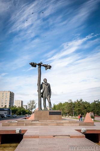 Jeden z wilu posągów w Pawłodarze