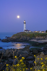 Super Moonset - Pigeon Point Lighthouse (andispin1962) Tags: ocean sanfrancisco california statepark light sea santacruz moon lighthouse house beach one 1 coast highway surf ship pacific shipwreck beaches moonlight coastline tall davenport cutter sanmateo pigeonpoint tallest darvin atkeson darv liquidmoonlightcom lynneal supermoon