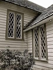 Leaded Windows (the mindful fox) Tags: christchurch church window angles leadedglass hopebc christchurchanglican leadedglasswindow diamondshape christchurchhope