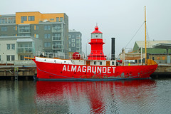 Lighthouse ship Almagrundet built in Gävle in 1896 has finally been returned home after a very long service out and around the Baltic sea.It is planned to become a ships museum and will stay here at home in Gävle.And to think it doent have any motor. (crusaderstgeorge) Tags: sweden sverige serving lifesaver redandwhite lighthouseship almagrundet fyrskeppet fyrskeppetalmagrundet