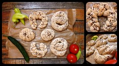 Pastry (Martina Salova) Tags: wood summer vegetables composition bread different fresh homemade integral forms simple sesameseed flaxseed