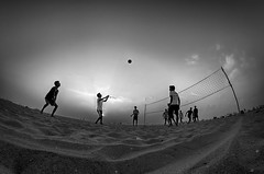 Playing Time... (aestheticsguy2004) Tags: people bw beach sunshine silhouette marina landscape lights blackwhite sand nikon outdoor ngc madras scenic wideangle volleyball playtime marinabeach chennai lightshadow bwphotography twop cwc blackwhitephotography landscapephotography beachsunrise beachphotography beachplay 8mmlens nikonflickraward madrasmarina beachactivites nikond7000 chennaiweekendclickers cwcphotowalk neeteshphotography neeteshpics neeteshphotograhy marinabeach2015