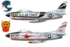 F-86D Sabre Dog (Ricos 2015) Tags: airplane military north sabre american f86