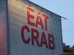 EAT CRAB! (francesca.clemente) Tags: sanfrancisco xmas food bay rainbow chinatown surf baker tram crab goldengatebridge taco electronics wharf goldengate coittower santaclaus fishermans fishermanswharf alcatraz hook bakerbeach burrito cablecars foodtruck