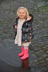 Bella (sarah_presh) Tags: christmas pink girl smile outside december child outdoor daughter bella puddles wellies nikond750