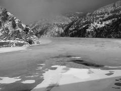 Hauser Lake.  Montana (montanatom1950) Tags: ice water montana lakes missouririver helenamontana yorkbridge yorkmontana