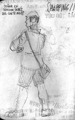 Shopping sketch 4 (Joaqun greda Ycora) Tags: shopping lpiz en vivo bocetos