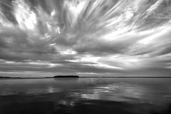 Key Largo Blues: Sunset In Our Cove (Louise Lindsay) Tags: keylargo seascape landscape island sunsetcove clouds sunset glorious happyeaster reflection sea floridabay sky 12515 2015