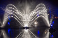 The Enchanted Phoenix (reiver iron - RMDPhotos.co.uk) Tags: enchanted forest sound light son lumiere display night illuminated reflection loch faskally pitlochry perthshore scotland long exposure