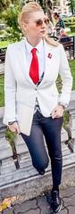 Louise (bof352000) Tags: woman tie necktie suit shirt fashion businesswoman elegance class strict femme cravate costume chemise mode affaire