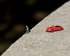 Macro Monday's Edge (Eugene Lagana) Tags: macro monday mondays hmm edge edgy jump porsche read red decision