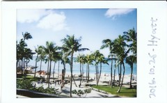 Waikiki Beach (daniellih) Tags: 2016 october oahu hawaii waikikibeach waikiki beach shore water fun sun sunny people fujifilm fujiinstax fuji instax film palm tree island tropics tropic tropical