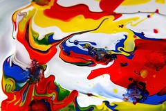 A touch of the Pollocks (smcnally24601) Tags: paint abstract pop art colour merge mix