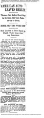 1908-07-28. Chicago Tribune. AMERICAN AUTO LEAVES BERLIN (foot-passenger) Tags: thomasflyer berlin 1908 july newyorkparis