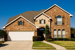 House_thumb (BoKauffmann) Tags: house home property realestate real estate windows shutters garage door glass sunny blue sky yard security fun americandream owner ownership brick grass green unitedstatesofamerica