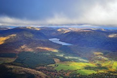 Ariel photography: Loch Turret from 3000 Feet. October 2016. (Jen_wilsonphotography) Tags: autumn mountains scotland nikon aviation arielphotography perthshire lochturret