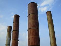 No smoke today. (UrbaceousSentiment) Tags: chimney kamin rost korrosion rust corrosion historischtechnischesmuseum peenemünde usedom