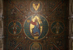 The Lord Comes in Glory (Lawrence OP) Tags: elycathedral ceiling painting angels jesuschrist judge glory majesty