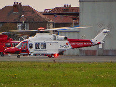 G-CILN Agusta-Westland AW139 of HM Coastguard (SteveDHall) Tags: aircraft airport aviation airfield aerodrome helicopter emergency rescue blackpool blackpoolairport 2016 gciln agustawestland aw139 coastguard agustawestlandaw139 hmcoastguard a139 stathan searchandrescue sar uk