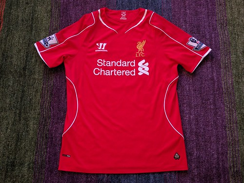 Liverpool FC match worn shirt 2014/15 Lazar Marković vs. Arsenal London (21.12.2014)