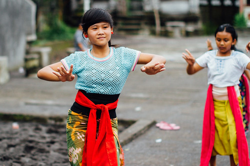 Girl Learning Legong Dance, Bali Indonesia