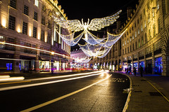Regent Street Christmas Lights, London, United Kingdom (topwh) Tags: regent street regentstreet london ldn xmas christmas lights christmaslights xmaslights lighttrail united kingdom unitedkingdom uk gb great britain greatbritain angel angels centrallondon central light trail