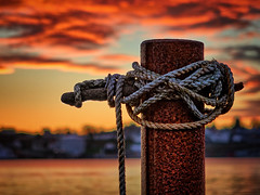 Tied up at the quayside, Haugesund - Norway (Vest der ute) Tags: g7x norway rogaland haugesund sunset seascape clouds ocean pier quay water fav25 fav200
