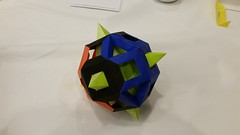 quick-and-dirty-caged-kawamura-hexahedron.1 (Ardonik) Tags: miyukikawamura starmodule hexahedron cube rhombicuboctahedron tomokofuse openframeunit modularorigami