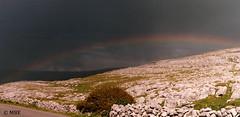 Rainbow over the Burren (Mick @ MBE) Tags: burren clare ireland rainbow mbe panoramio nik colorefexpro4 2011 limestone westofireland westcoast sky may spring springtime