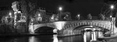 stirring up some Strasbourg bridge trolls ;) (lunaryuna) Tags: france lalsace strasbourg urban city bridges panorama panoramicviews strasbourgbridges riverill architecture buildings lanterns nightlights nightphotography nocturnalphotography citynights illumination le longexposure walkinthecity river lunaryuna blackwhite bw monochrome