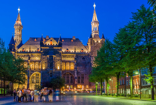 Aachen City Hall by Night