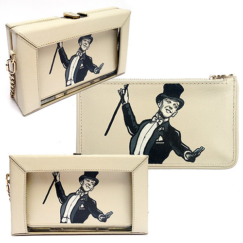 charlotte Olympia hand painted Fred Astaire Bag