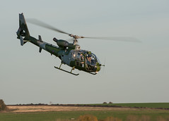 Gazelle nose down (Jez B) Tags: salisbury plain training area spta helicopter copter chopper helo military army air corps aac royal force raf flight flying fly aerospatiale gazelle