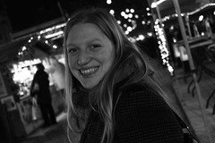 (Maddilly M.G.) Tags: happytime friends friendship laughing rire amiti light lumire lumires bynight night evening dark blackandwhite blackwhite bw noiretblanc christmasvillage christmas chevelure party smiling sourire outside outdoor city citybynight