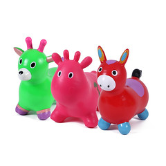 Kids play jumping animals (zhuchuangtoys) Tags: jumping animal horse toy kids play learning pvc enviornmental colorfull export chinese cheap quality supermarket