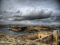 Looking across Fort Manoel from Valletta in Malta (neilalderney123) Tags: 2016neilhoward malta fort manoel landscape cityscape travel weather storm