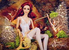 Sofia (Michaela Unbehau Photography) Tags: todaymarksthefirstdayofadvent iwishyouallawonderfuloneinallthingsitisbettertohopethantodespairjohannwolfgangvongoethesofiawearslingeriefromgooua70ebay michaela unbehau fashiondoll doll dolls photography holiday season