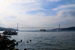 Bosphorus bridge, istanbul/Turkey (atagunbaltacioglu) Tags: nature sea turkey istanbul bridge bosphorus