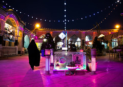 Iranian woman in chador going inside a mosque illuminated for muharram to commemorate the martyrdom anniversary of hussein, Isfahan province, Isfahan, Iran (Eric Lafforgue) Tags: 1people adult adultsonly architecture ashura ceremony chador colorimage colored colorful colors commemoration esfahan fullframe grave hispahan horizontal hussain illuminated imamhussein incidentalpeople iran isfahan islam islamic ispahan light martyr memorialevent middleeast mosque muharram multicolored oneperson outdoors people persia religion sepahan shia shiite shrine tomb woman worship isfahanprovince ir