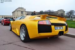 Lamborghini Murcielago (Monde-Auto Passion Photos) Tags: auto automobile lamborghini murcielago coupé jaune france rally paris evenement supercar sportive worldcars