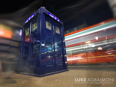 Tardis Again - Earl's Court London (Luke Agbaimoni (last rounds)) Tags: tardis doctorwho london earlscourt night light trails whovian whovians