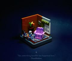 04 - Horace Slughorn (Melan-E) Tags: harry potter half blood prince rowling magical journey lego afol magic slughorn horace armchair dumbledore