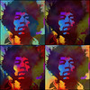 Hendrix  x 4 (Jackie XLY) Tags: colours colors hendrix pop rock popart